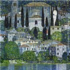 Gustav Klimt Church in Cassone painting