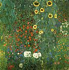 Gustav Klimt Country Garden with Sunflower painting