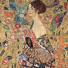 Gustav Klimt Donna con ventaglio (Woman with Fan) painting