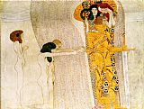 Gustav Klimt Entirety of Beethoven Frieze left3 painting