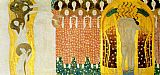 Gustav Klimt Entirety of Beethoven Frieze left8 painting