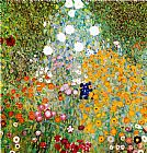 Oriental paintings - Flower Garden by Gustav Klimt