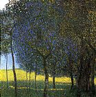 Gustav Klimt Fruit Trees painting