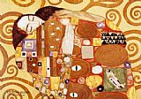 Gustav Klimt Fulfillment Stoclet Frieze painting