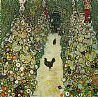 Gustav Klimt Garden Path with Chickens painting