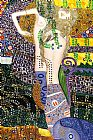 Gustav Klimt Sea Serpents painting