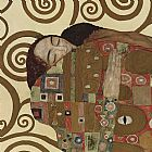 Gustav Klimt The Embrace (detail_ square) painting