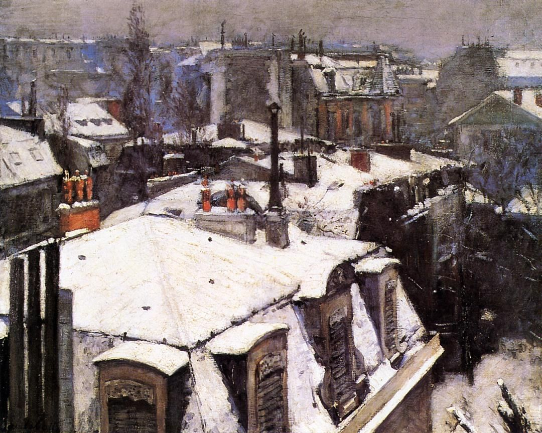 Gustave Caillebotte Rooftops Under Snow