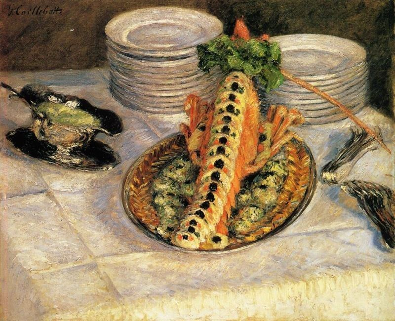 Gustave Caillebotte Still Life with Crayfish