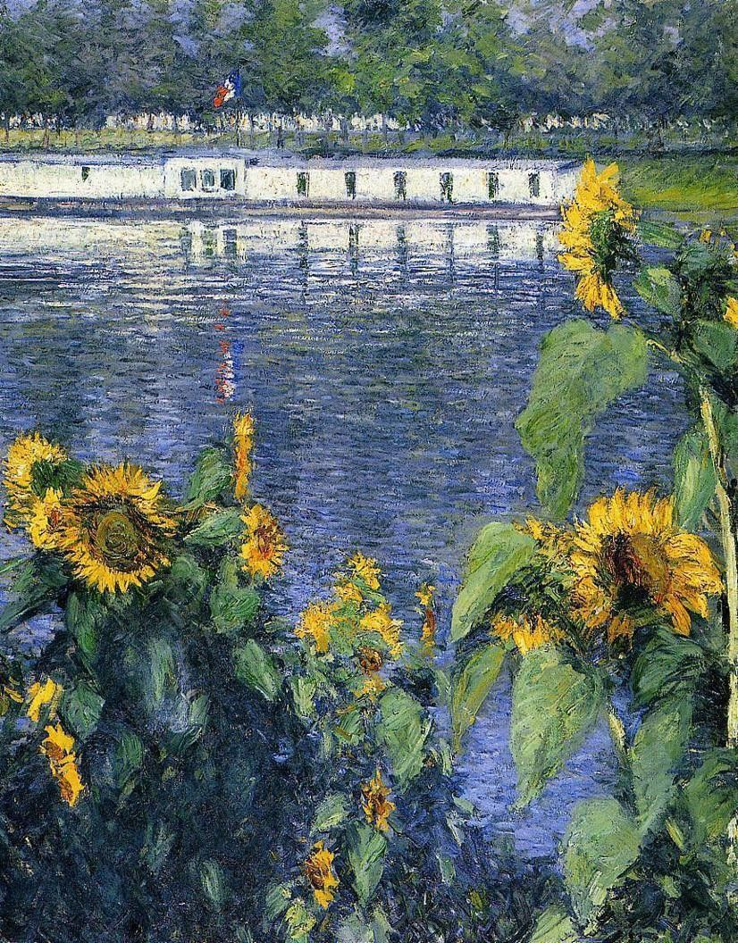 Gustave Caillebotte Sunflowers on the Banks of the Seine