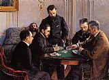 Gustave Caillebotte Game of Bezique painting