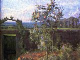 Gustave Caillebotte Landscape near Yerres painting