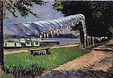 Gustave Caillebotte Laundry Drying painting