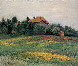 Gustave Caillebotte Norman Landscape painting