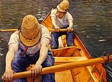 Gustave Caillebotte Oarsmen painting