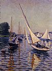 Gustave Caillebotte Regatta at Argenteuil painting