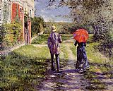 Gustave Caillebotte Rising Road painting