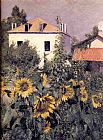 Gustave Caillebotte Sunflowers, Garden at Petit Gennevilliers painting