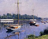 Gustave Caillebotte The Basin at Argenteuil painting