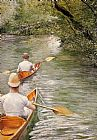 Gustave Caillebotte The Canoes painting