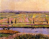 Gustave Caillebotte The Gennevilliers Plain Seen from the Slopes of Argenteuil painting