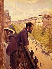 Gustave Caillebotte The Man on the Balcony painting