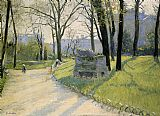 Gustave Caillebotte The Parc Monceau painting