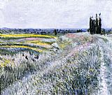 Gustave Caillebotte The Plain at Gennevilliers, Group of Poplars painting