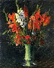 Gustave Caillebotte Vase of Gladiolas painting