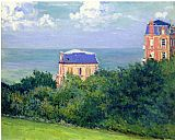 Gustave Caillebotte Villas at Villers-sur-Mer painting