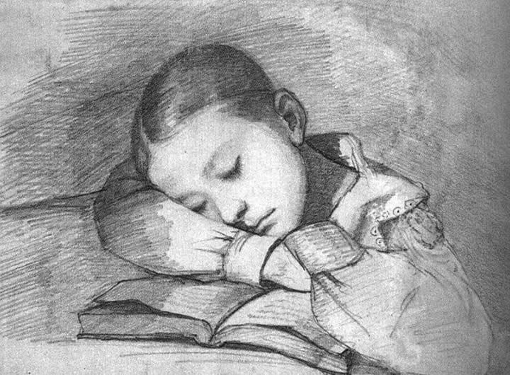 Gustave Courbet Portrait of Juliette Courbet as a Sleeping Child