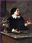 Gustave Courbet Mother Gr'goire painting