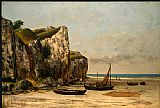 Beach paintings - Plage de Normandie by Gustave Courbet