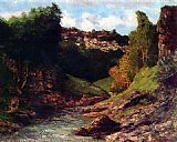 Gustave Courbet Rocky Landscape painting