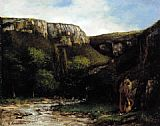 Gustave Courbet The Gorge painting