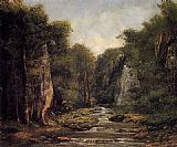 Gustave Courbet The River Plaisir-Fontaine painting