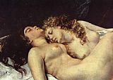Gustave Courbet The Sleepers detail painting