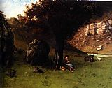 Gustave Courbet The Young Shepherdess painting