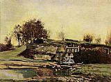 Gustave Courbet The quarry of Optevoz painting