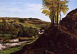 Gustave Courbet Valley of Ornans painting