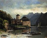 Gustave Courbet View of the Chateau de Chillon painting