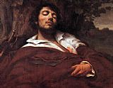 Gustave Courbet Wounded Man painting