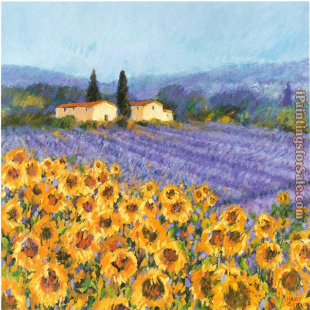 Hazel Barker Lavender and Sunflowers Provence