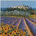 Hazel Barker Hill Town Provence painting