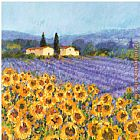 Hazel Barker Lavender and Sunflowers Provence painting