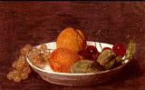 Henri Fantin-Latour A Bowl Of Fruit painting