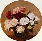 Henri Fantin-Latour A Large Bouquet of Roses painting