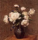 Henri Fantin-Latour Bouquet of Peonies painting