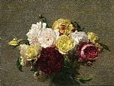 Henri Fantin-Latour Bouquet of Roses I painting