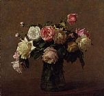 Henri Fantin-Latour Bouquet of Roses painting